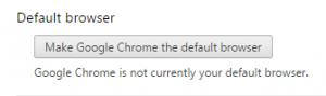 Make Chrome Default Button