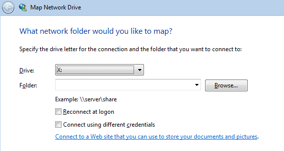 Map a Drive