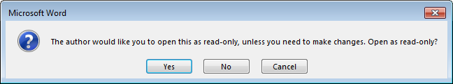 Read Only Pop-Up