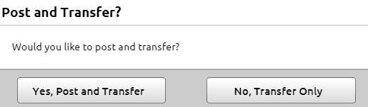 Elite Transfer Post Options